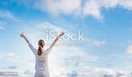 952953174 istock photo Happy young woman 1163040186