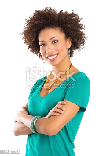 166407266 istock photo Happy Young Woman 166407266