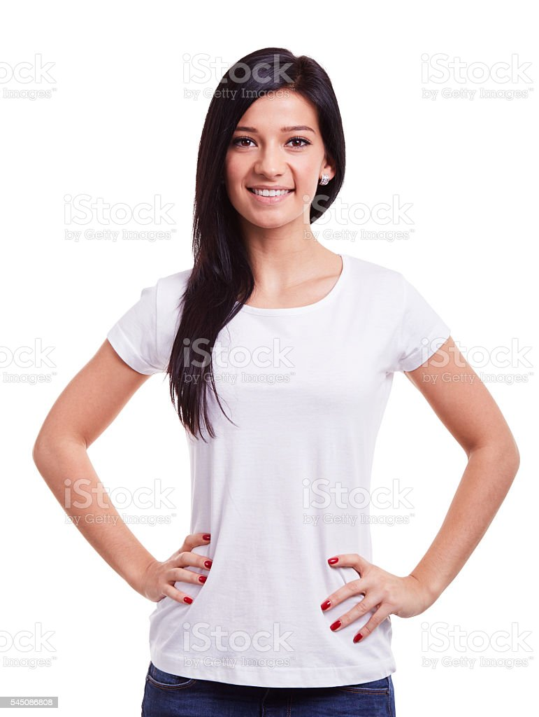 Happy young woman foto
