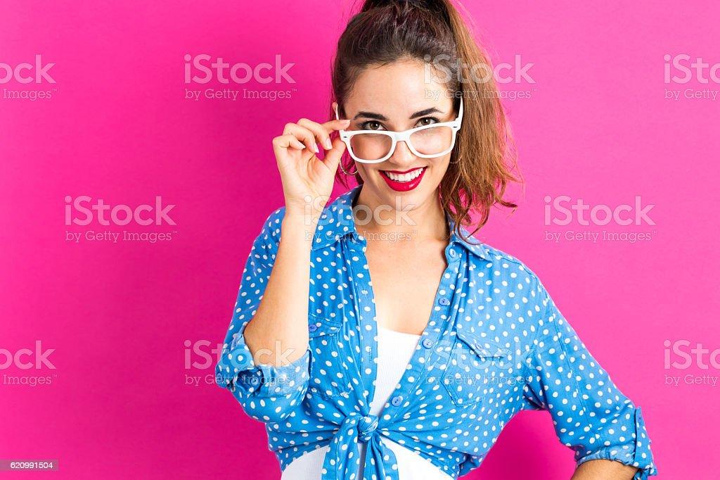 Mulher jovem feliz  foto royalty-free