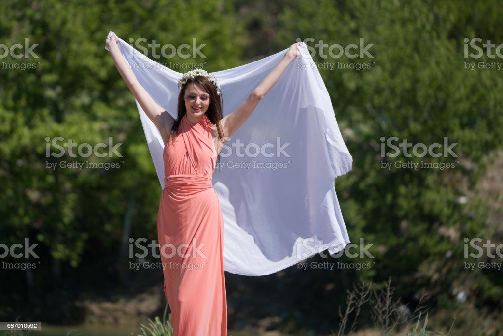 Glückliche junge Frau Lizenzfreies stock-foto