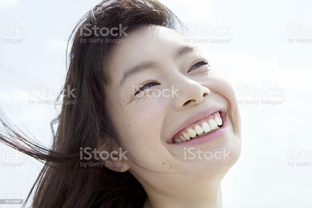 Happy young woman 免版稅 stock photo