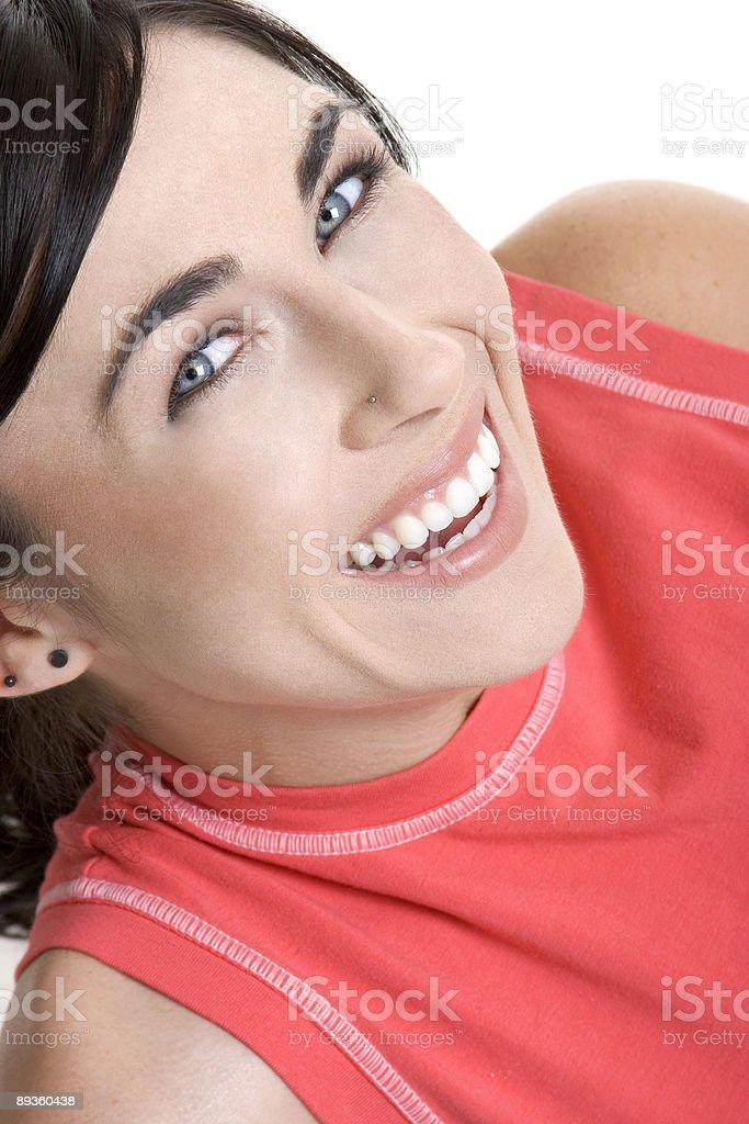 Szczęśliwa młoda kobieta zbiór zdjęć royalty-free