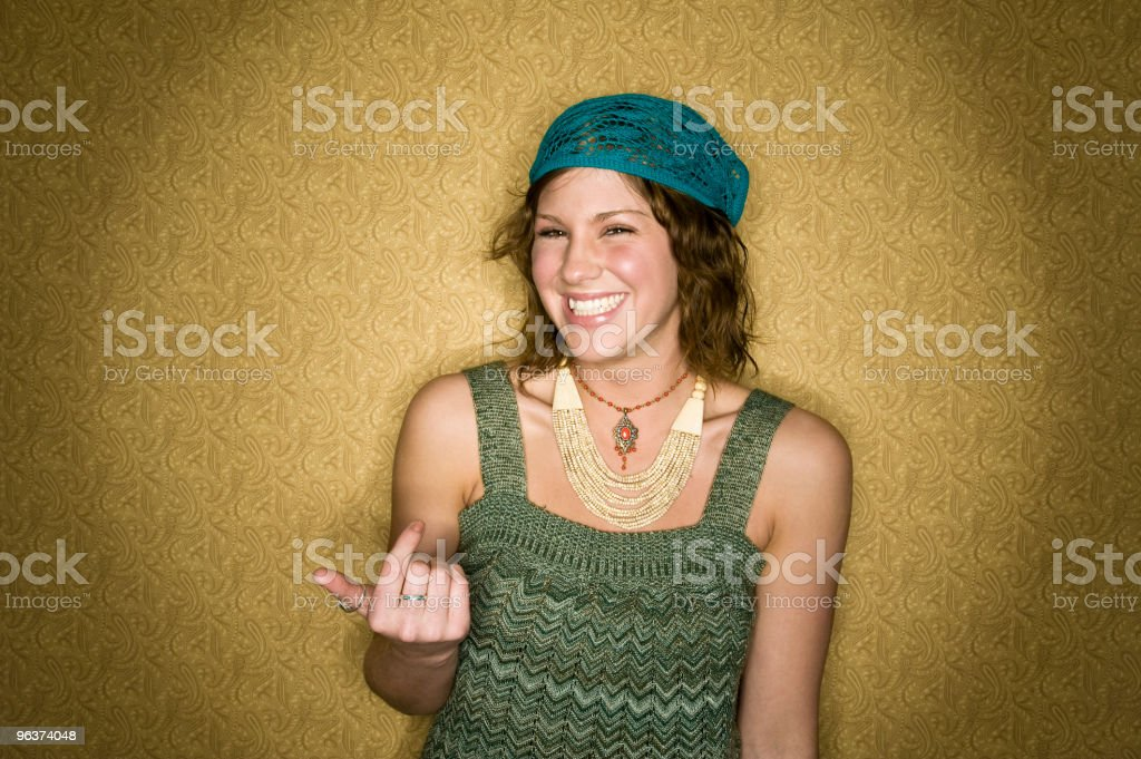 Happy Young Woman royalty-free stock photo