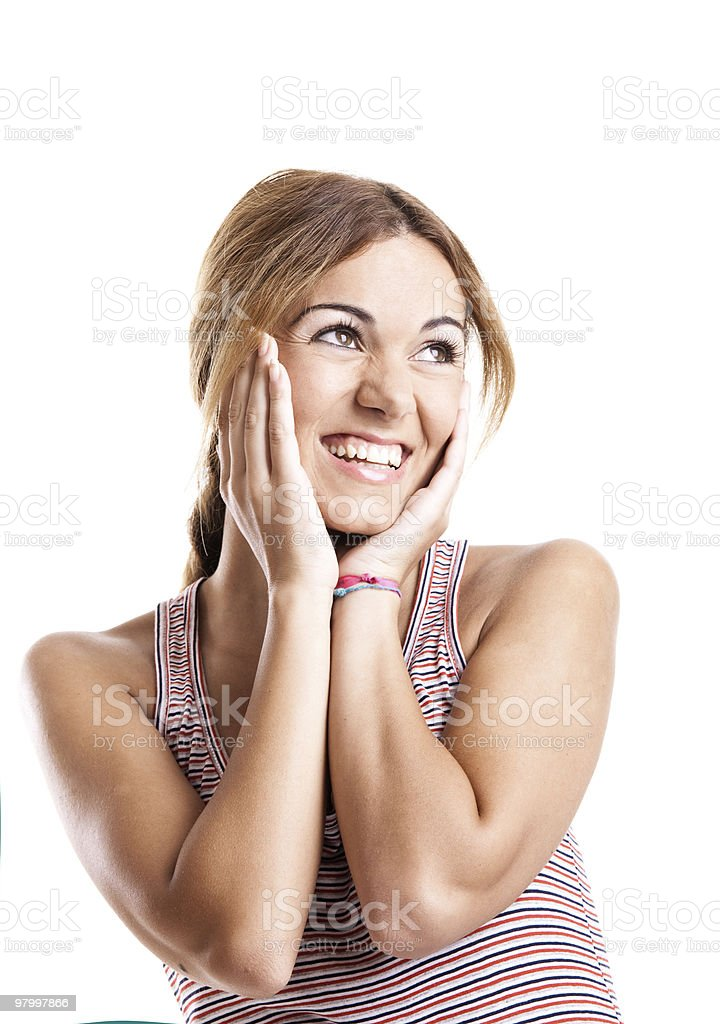 Happy young woman royalty free stockfoto