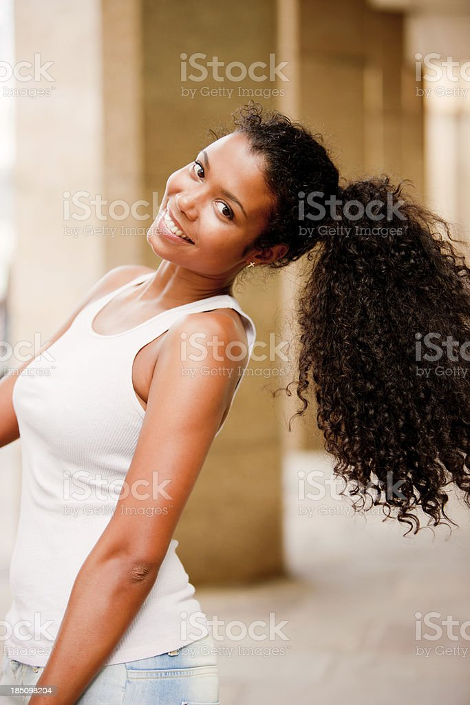 Happy Young Woman Portrait stock photo