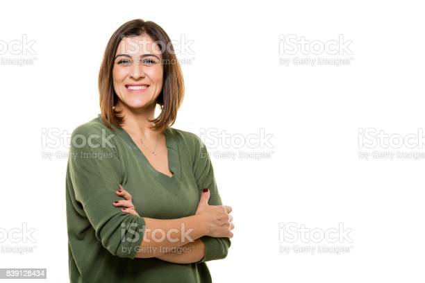 Happy young woman posing on white background picture id839128434?b=1&k=6&m=839128434&s=612x612&h=a5brvcfncjnueha1axj itq eve r9ylifjppyvqig8=