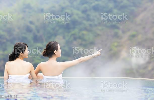 Happy young woman relaxing in hot springs picture id637224962?b=1&k=6&m=637224962&s=612x612&h=jr  r1kfibeqtlbyd bz bnl8afqdy5l7jn9evzdtpo=