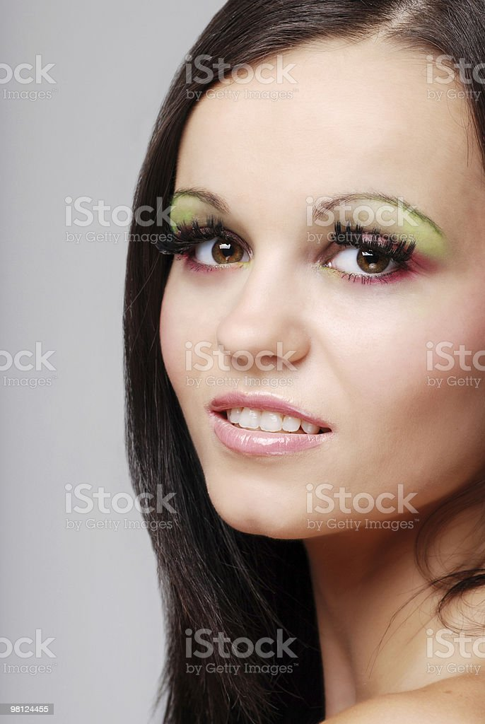 Happy young woman smiling royalty-free stock photo