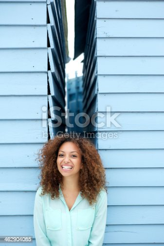 186534921 istock photo Happy young woman smiling with joyful expression 462904085