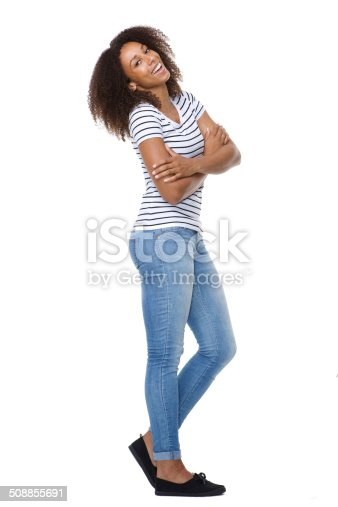 166407266istockphoto Happy young woman with arms crossed 508855691