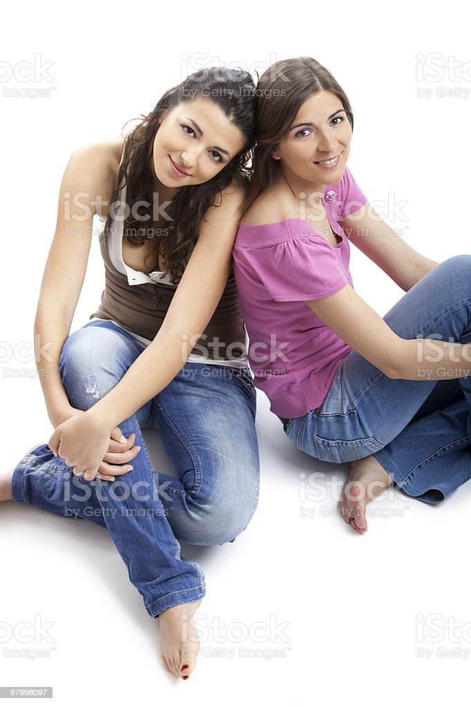 Happy young women's royalty-free stock photo