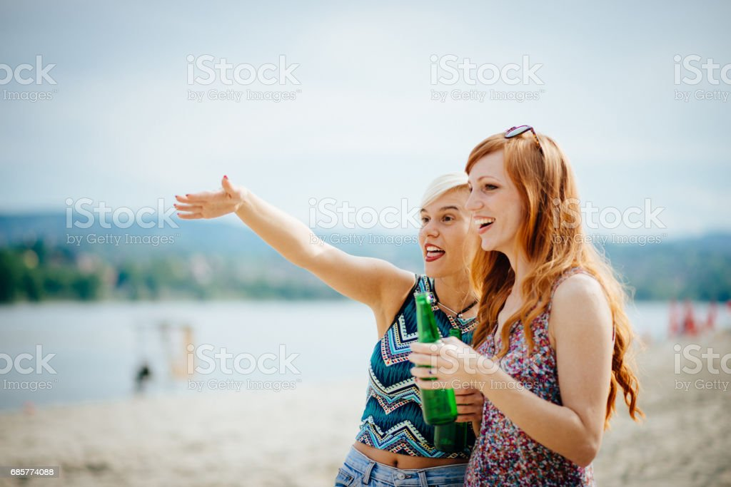 Happy youth on the beach royalty-free stock photo