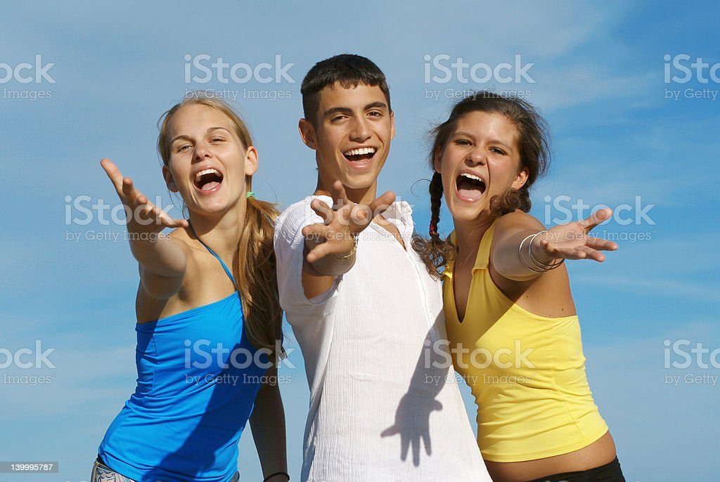 happy youth (Scroll down page for similar images) royalty-free stock photo