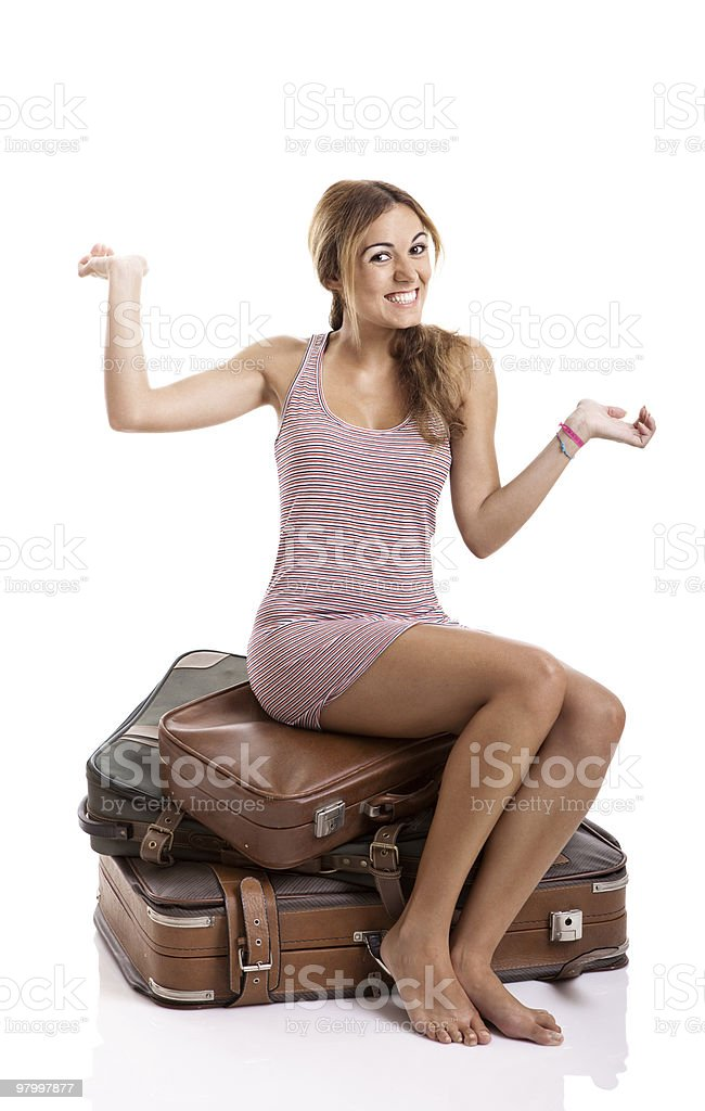 Happy ypung woman royalty-free stock photo