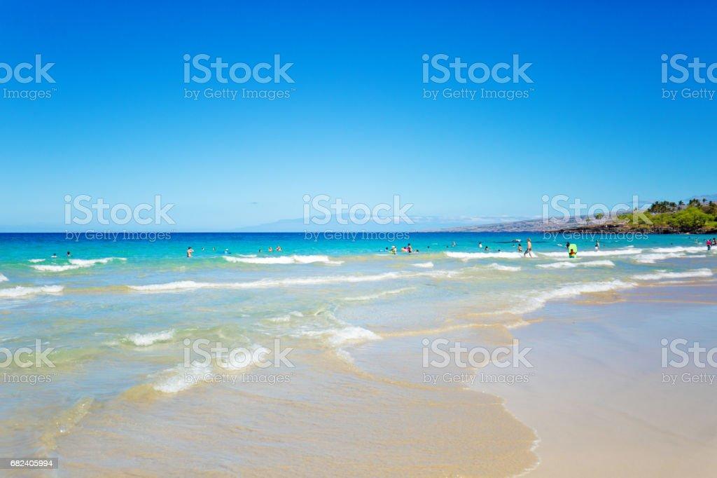 Hapuna Beach on the Big Island of Hawaii royalty-free stock photo