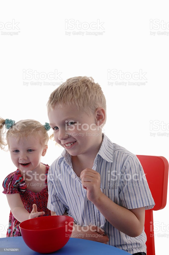hapy brother and sister royalty-free stock photo