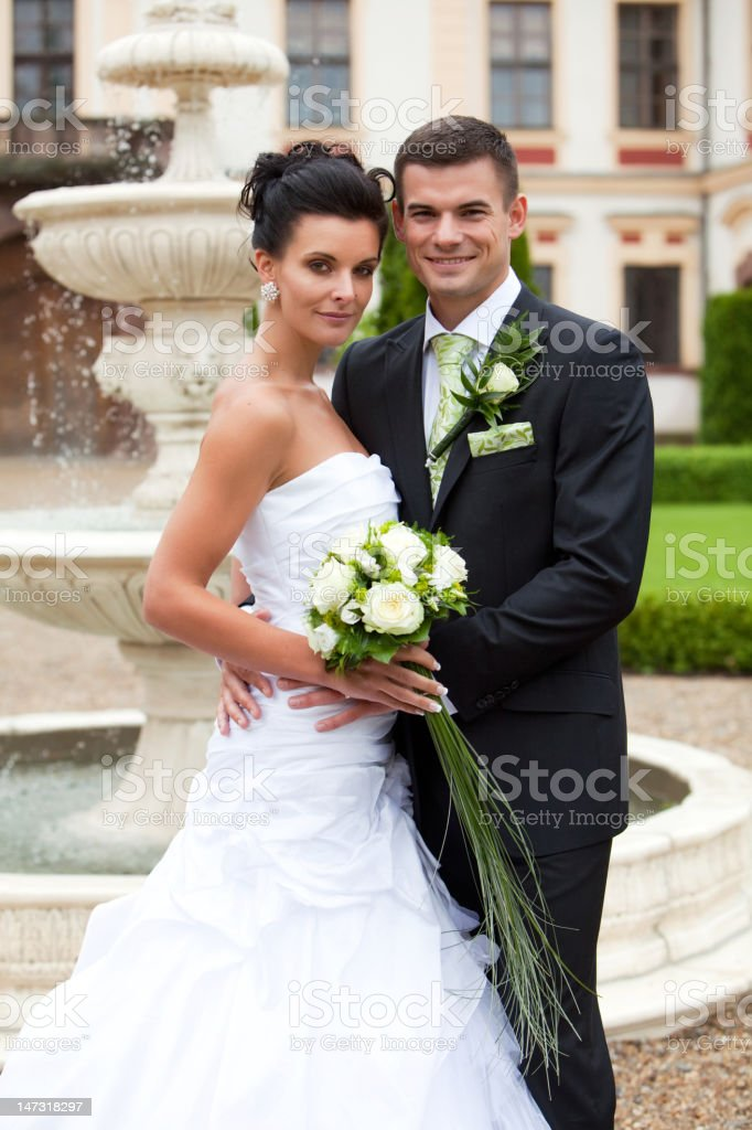 Hapy young couple just married royalty-free stock photo