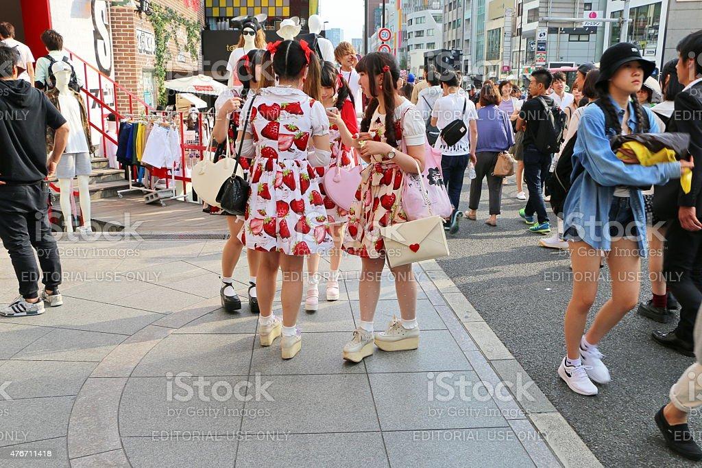 Harajuku Girls stock photo