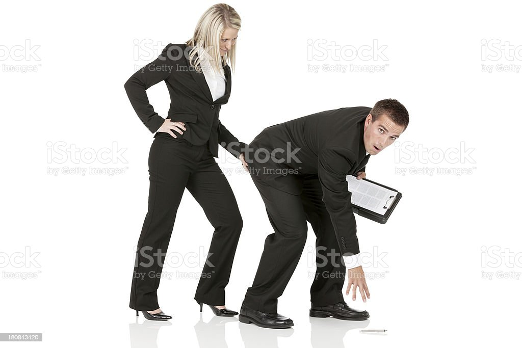 Harassment in the office stock photo