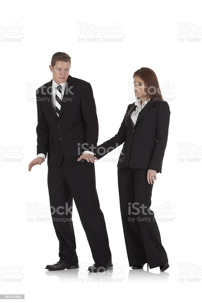 Harassment in the office royalty-free stock photo
