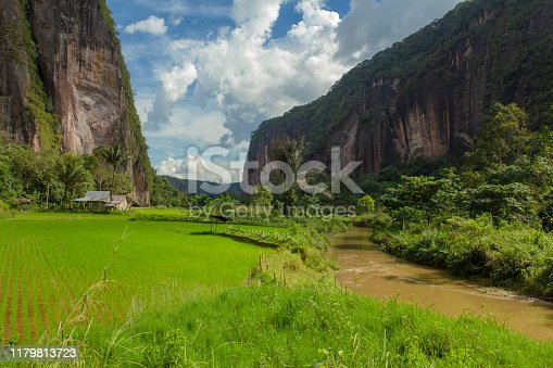 Harau Valley is in West Sumatra in Indonesia. It is one of the most beautiful natural scenery in West Sumatra. Located on the road between Pekanbaru and Bukittinggi. It is an area of canyons and rock formations with forest and rice fields in between