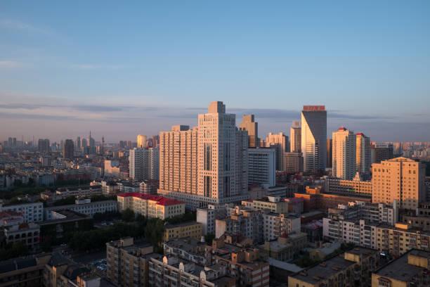 Harbin im Morgengrauen, China – Foto