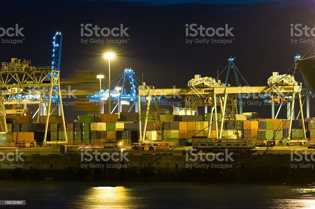 Harbor activity royalty-free stock photo