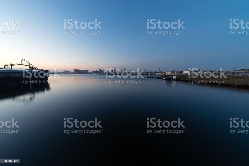 Harbor Amsterdam stock photo