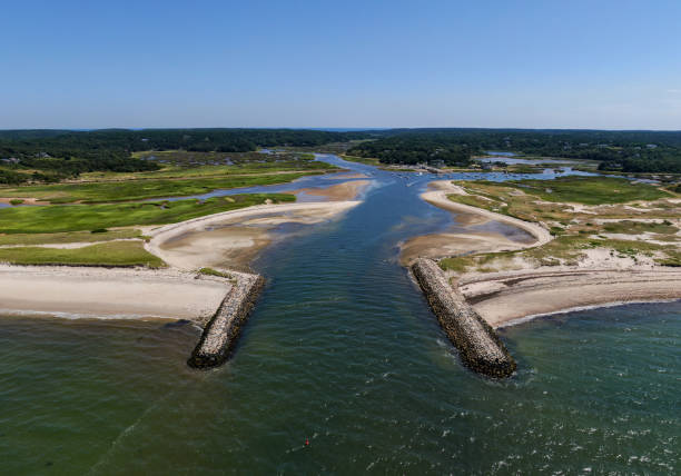 Hafen und Strand von Cape Cod, Massachusetts, USA. – Foto