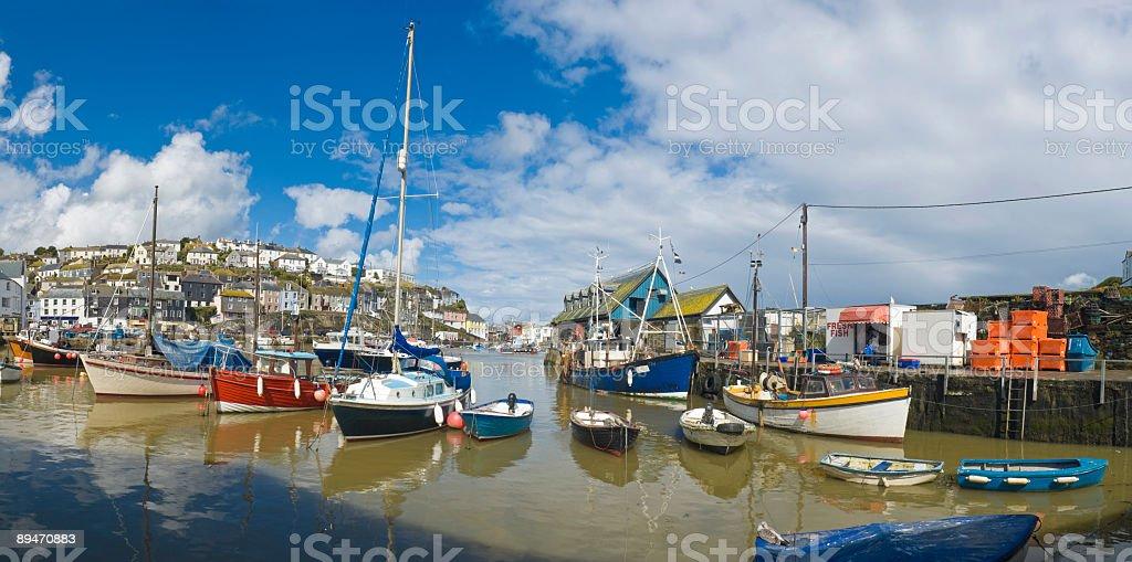 Harbor and fishing village royalty-free stock photo
