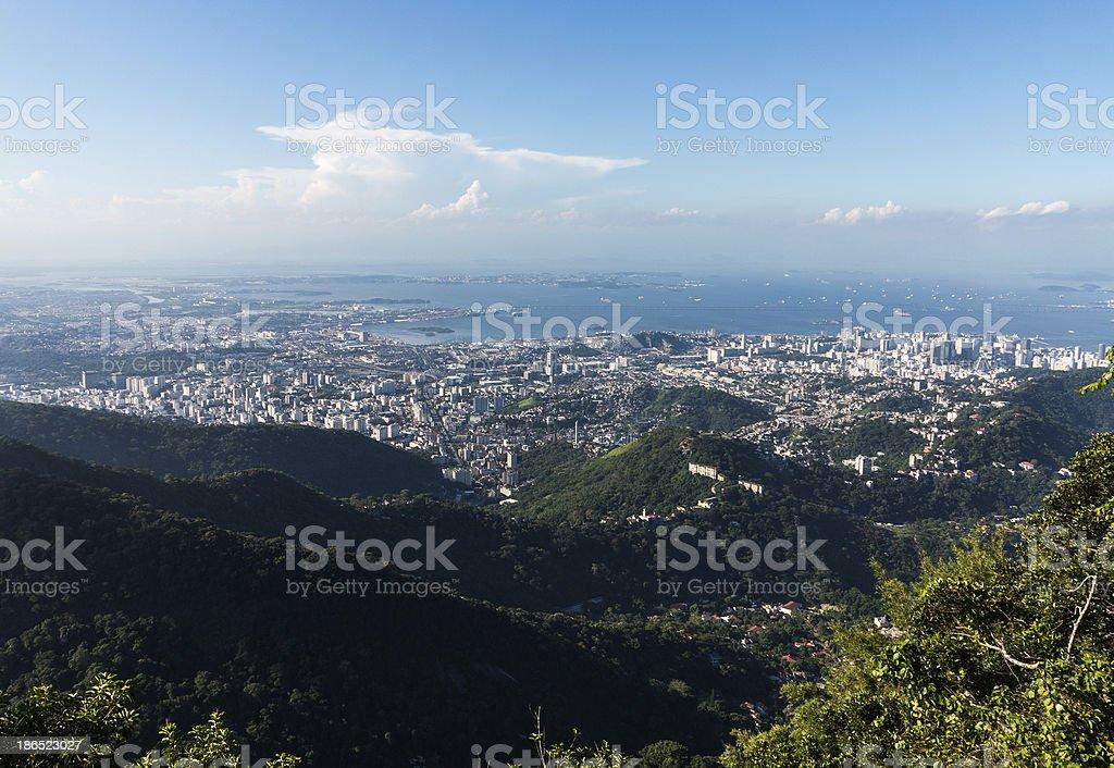 Harbor and skyline of Rio de Janeiro Brazil royalty-free stock photo