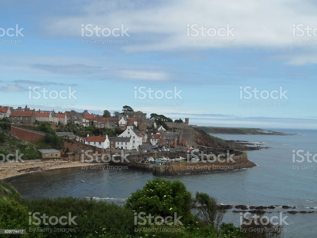 harbor and village of Crail in Scotland stock photo