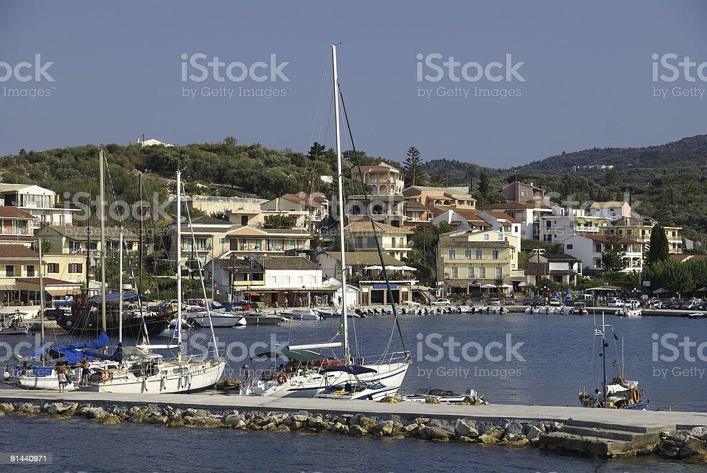Harbor at Corfu royalty-free stock photo