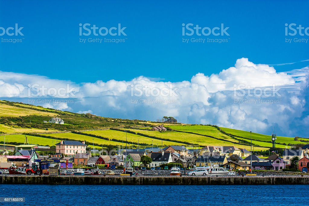 Harbor at the Coast of Dingle in Ireland stock photo