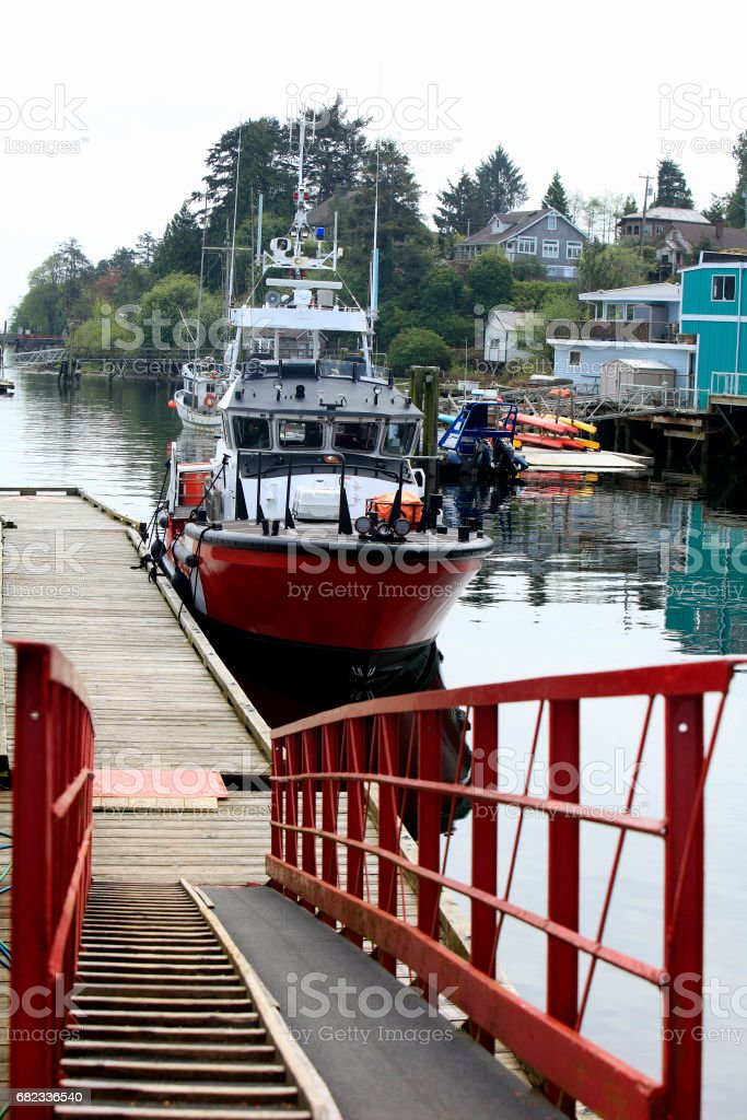 Harbor At The Small Village Of Ucluelet Vancouver Island zbiór zdjęć royalty-free