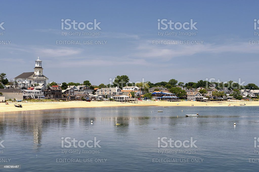 Harbor beach at Provincetown, Cape Cod stock photo