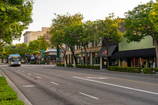 Harbor Boulevard in Fullerton, California stock photo