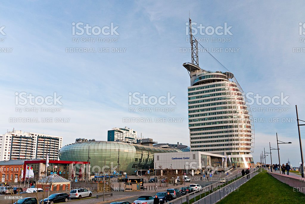 Harbor Bremerhaven stock photo
