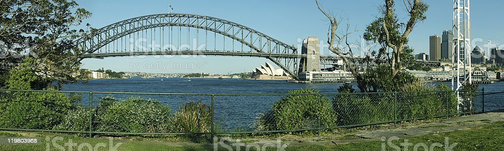 Harbor Bridge royalty-free stock photo