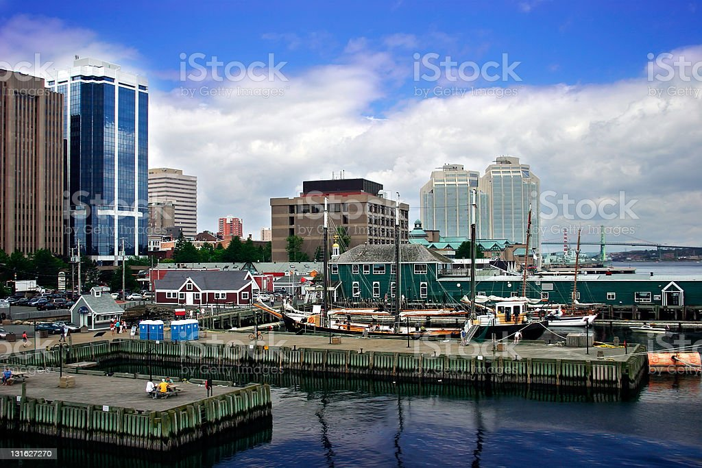 Harbor by the City royalty-free stock photo