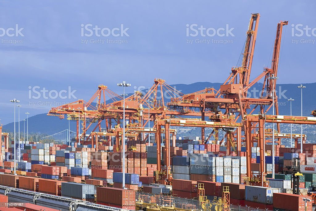 Harbor Cargo Containers royalty-free stock photo