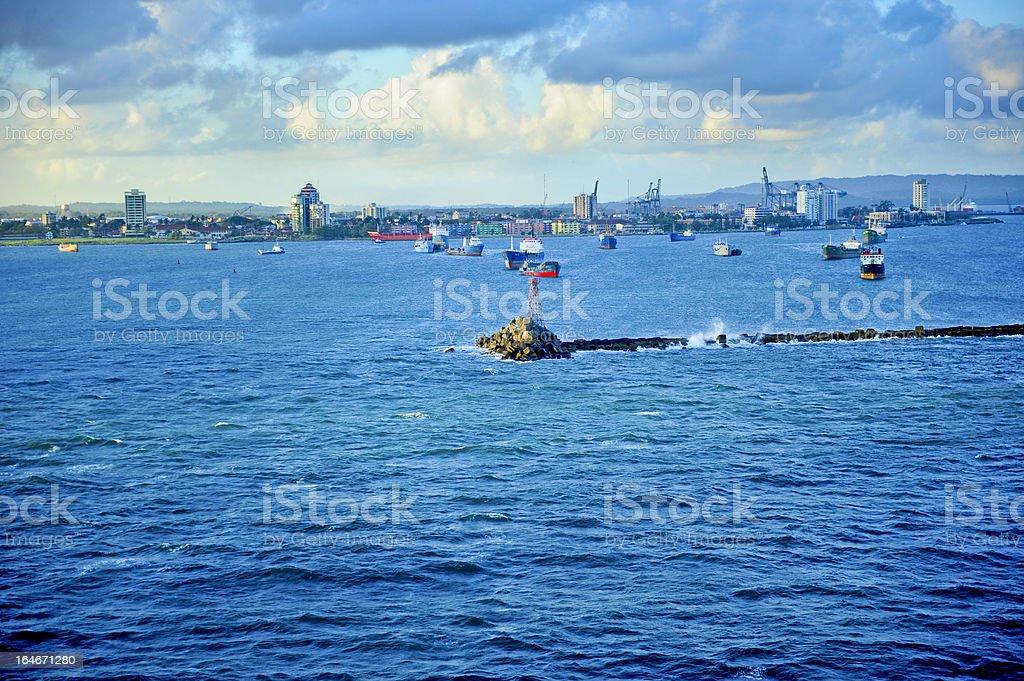 Harbor Colon Panama royalty-free stock photo