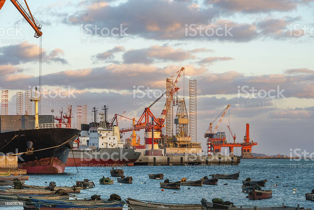 Harbor Crane royalty-free stock photo
