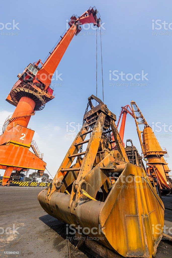 Grúa al puerto foto de stock libre de derechos