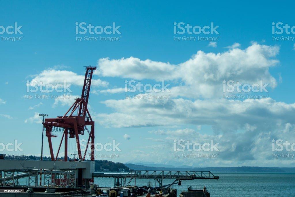 Harbor Crane stock photo