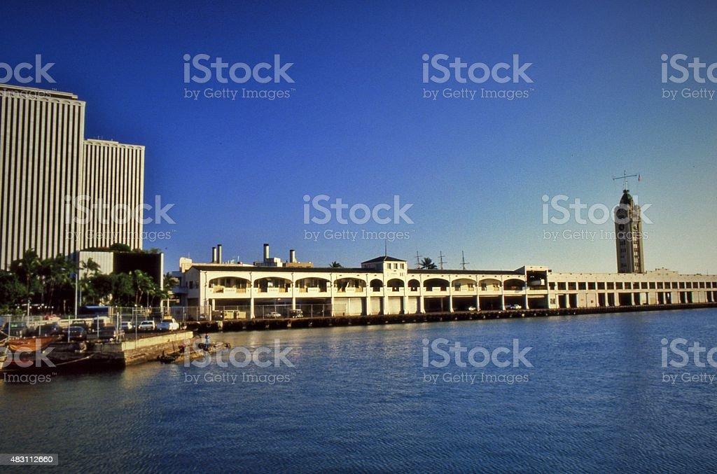 Harbor Cruise, Honolulu stock photo