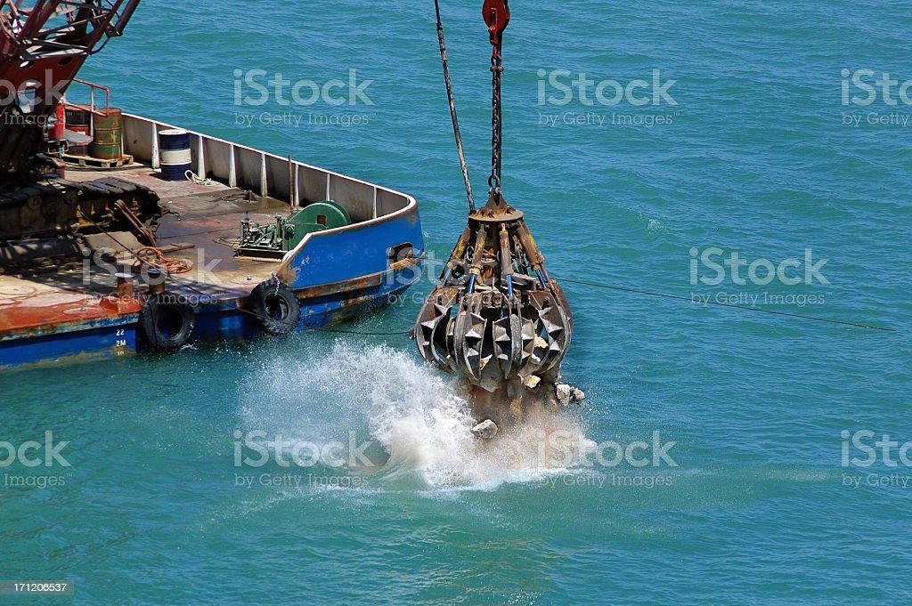 Harbor Dredging stock photo
