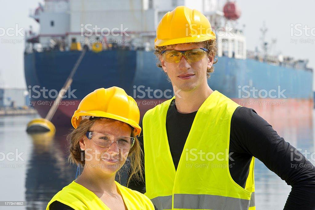 Harbor entrepreneurs royalty-free stock photo