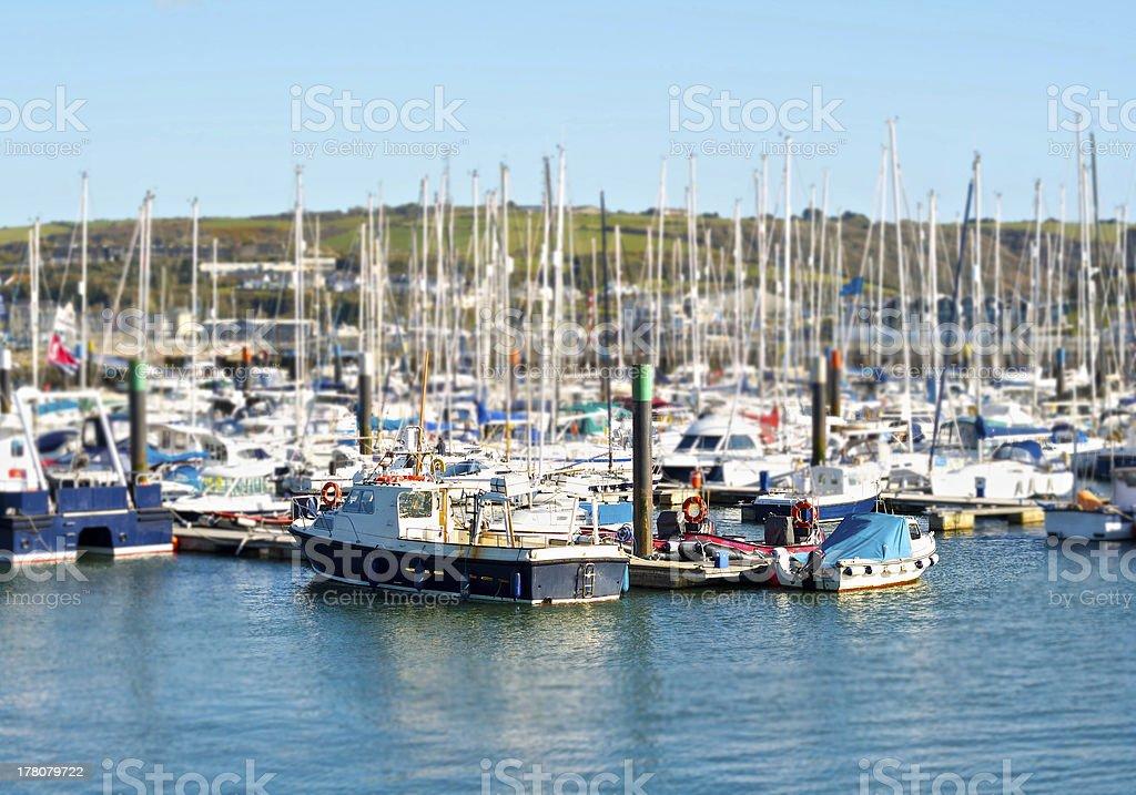 Harbor full of boats royalty-free stock photo